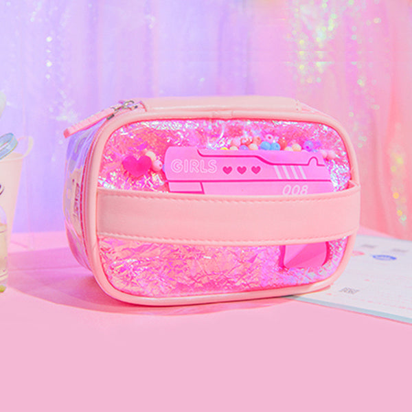Milkjoy Laser PVC Large-Capacity Cosmetic Bag
