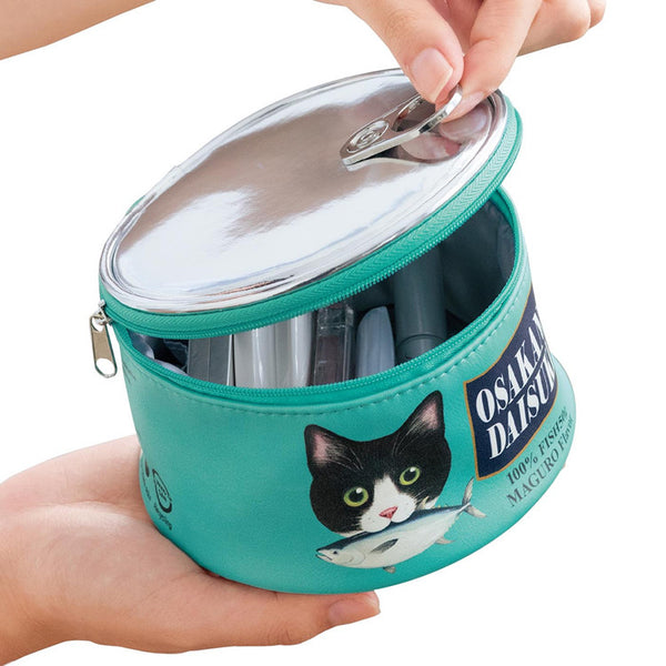 Kawaii Cat Leather Cosmetic Bag