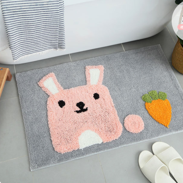 Cartoon Thicken Flocking Carpet