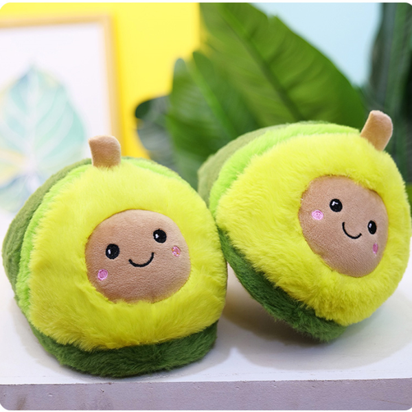 Winter Avocado Plush Slippers