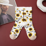 Plant Flower Cotton Socks