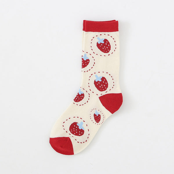 Cartoon Strawberry Socks