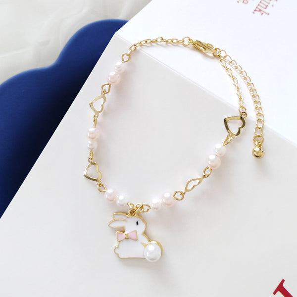 Little White Rabbit Pearl Bracelet