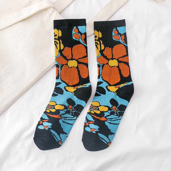 New Cartton Flower Socks