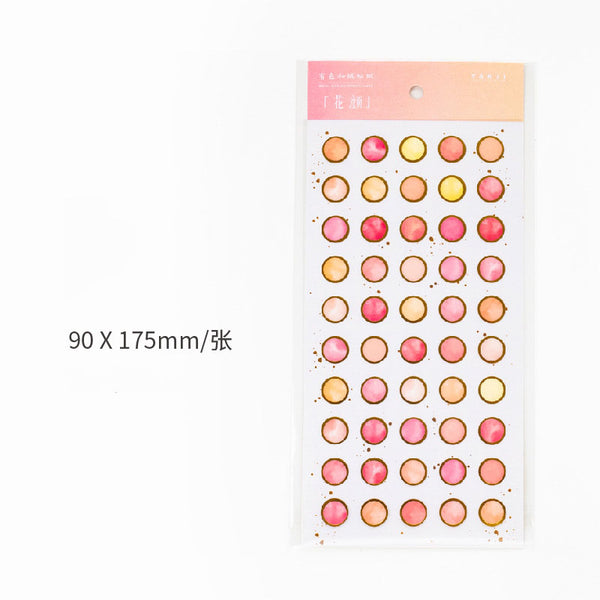 Bronzing Colored Dot Stickers