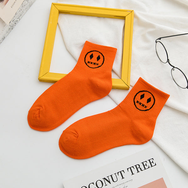 Cartoon Devil Smiley Socks