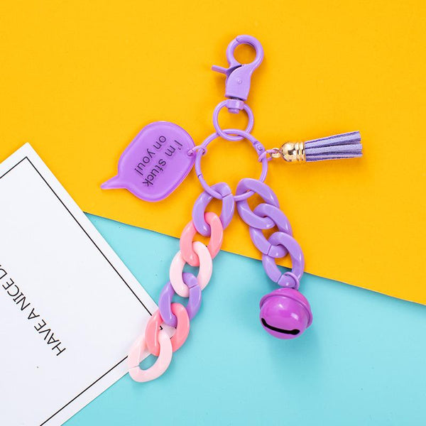 Color Chain Bell Keychain