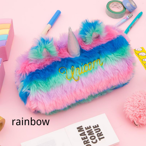 Bentoy Stationery Storage Plush Unicorn Bag