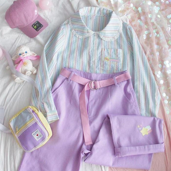 Kawaii Purple Girl Pants