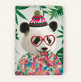 Bentoy Funny Animal Leather Passport Holder