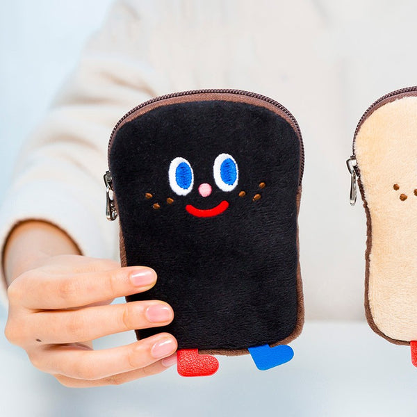 Milkjoy Cute Plush Toast Coin Purse