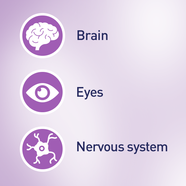 Supports the brain and eye development of your growing baby