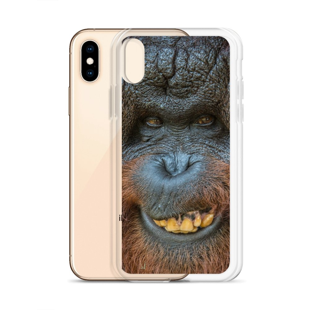 Cover per iPhone - Orangutan felicione - Overland Shop