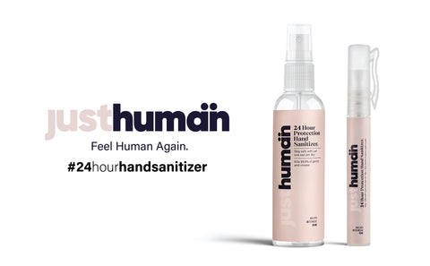 Just Human hand sanitizers