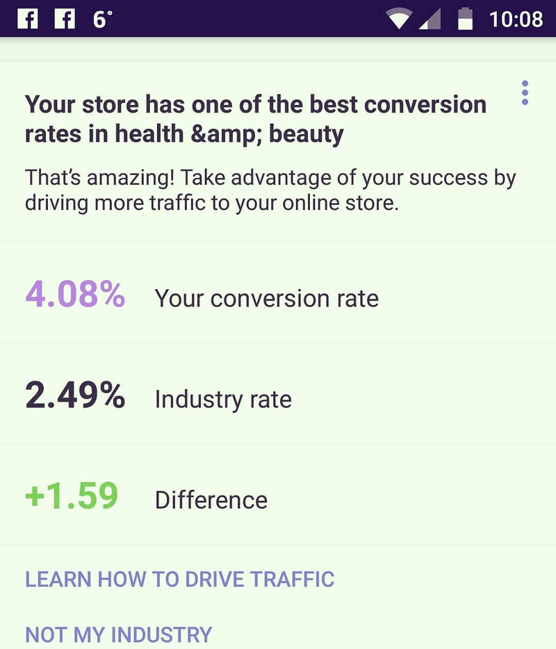 OUTSTANDING CONVERSION RATE