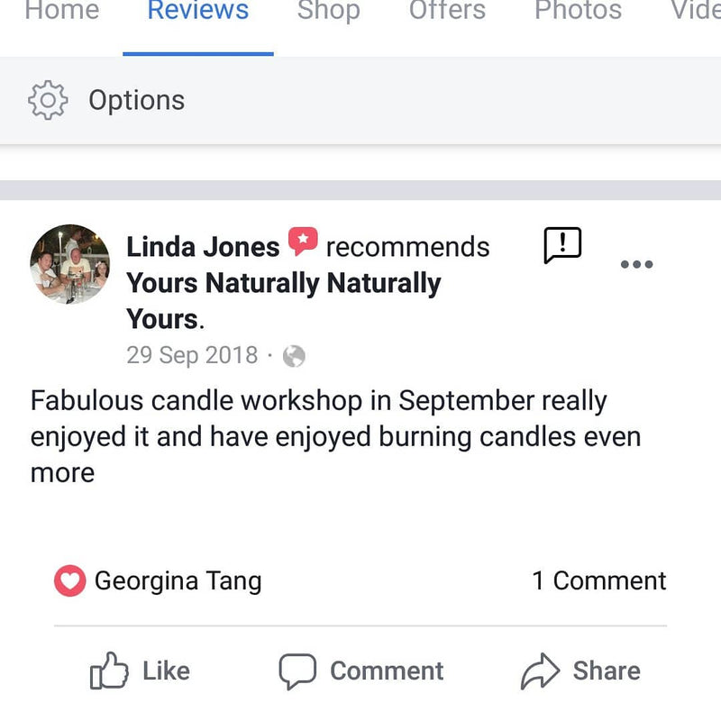 Fab review on candle workshop
