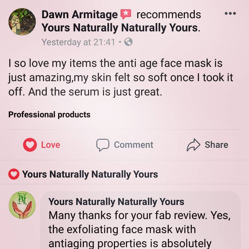 Fab review on Elixir and exfoliating face mask with antiaging properties