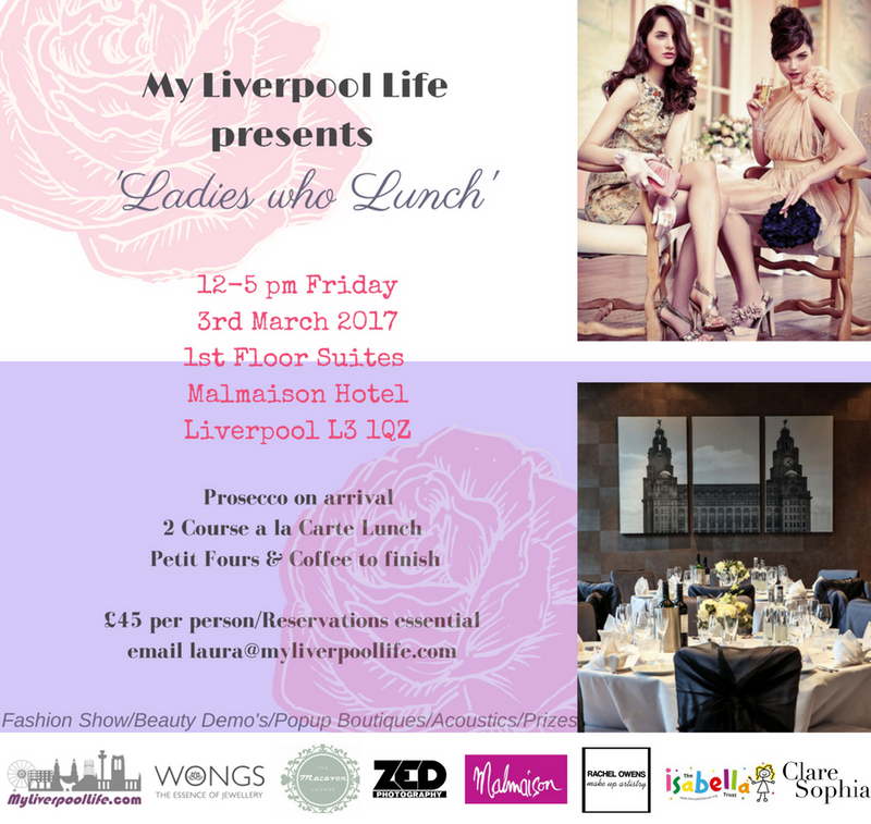Ladies who lunch event on 3rd March 2017