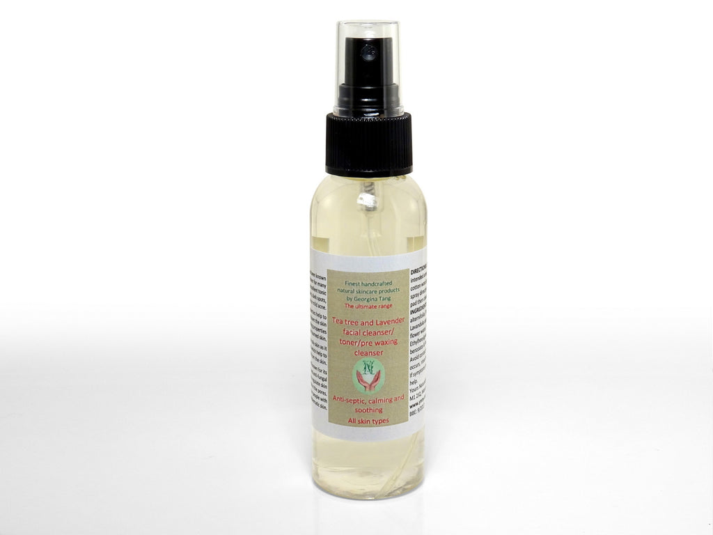 Organic Tea Tree and Lavender Water Facial Cleanser/Toner