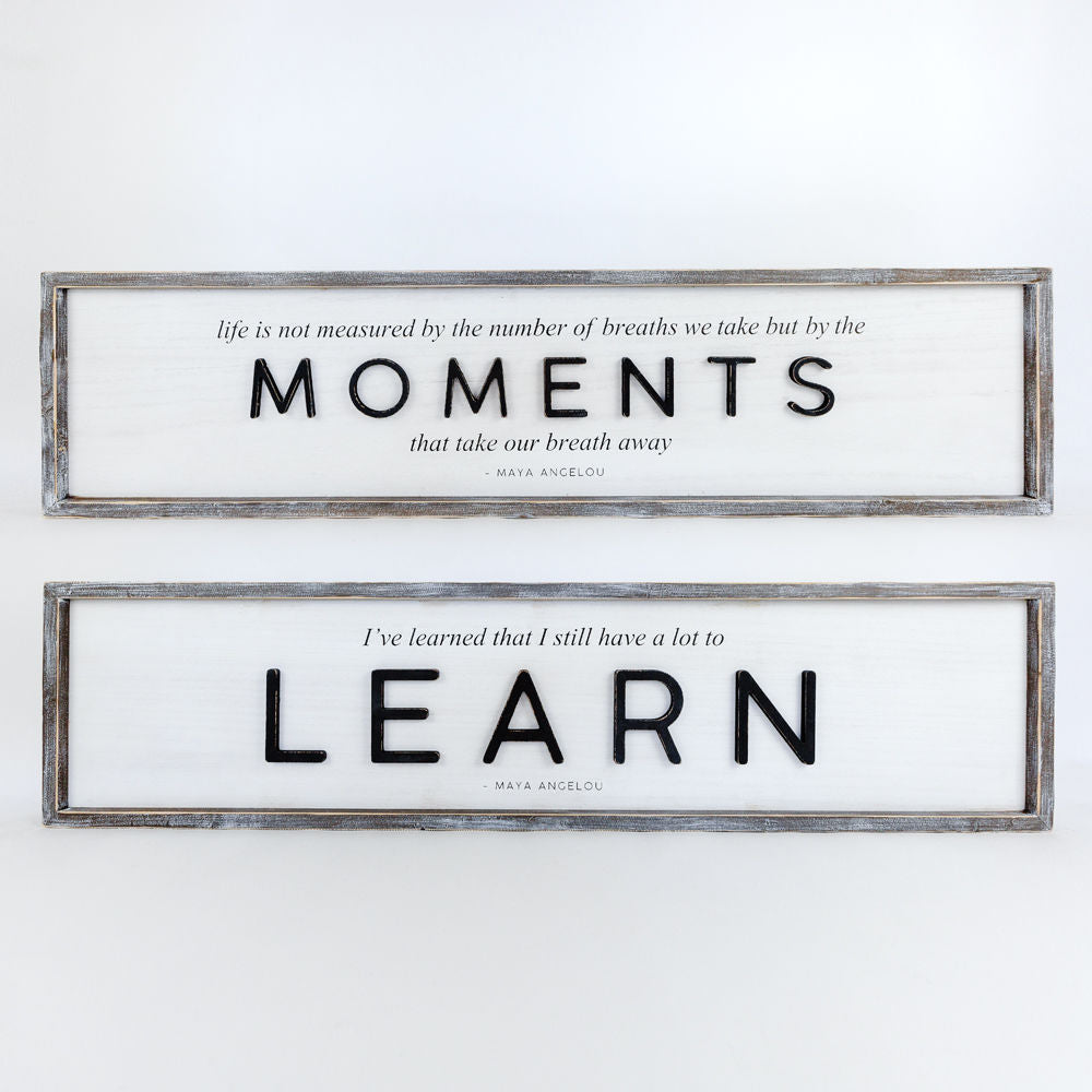 Moments/Learn Double Sided Sign