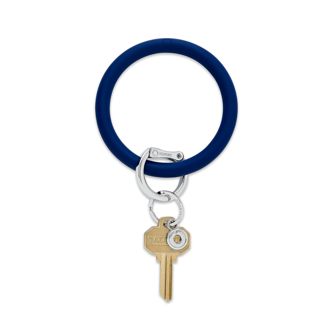 Midnight Navy Oventure Big O Key Ring