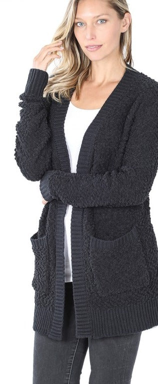 Heart Set On You Cardigan - Black