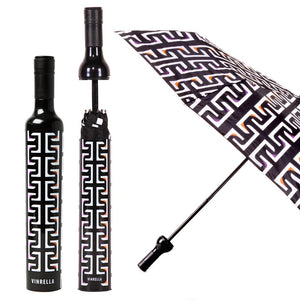 Vinrella Geometric Black Bottle Umbrella