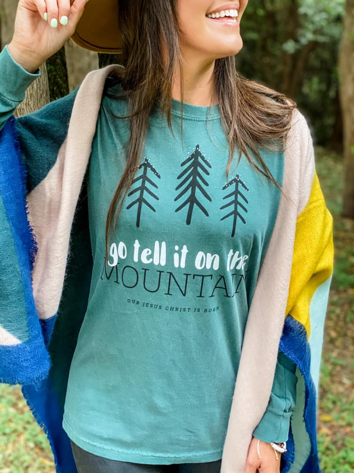 Go Tell It On The Mountain Long Sleeve Graphic Tee