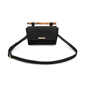 Gigi Bamboo Handle Crossbody - Black