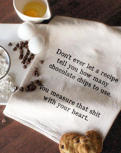 Measure With Your Heart Tea Towel