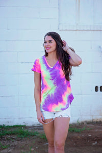 Neon Dreams Tie Dye Top