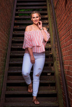 Load image into Gallery viewer, Dusty Rose Off Shoulder Top