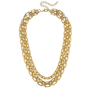 The Reese 3-Row Layered Chain Necklace