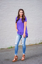Load image into Gallery viewer, Purple Ruffle Top