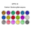 18 color sequins flash hex nail art
