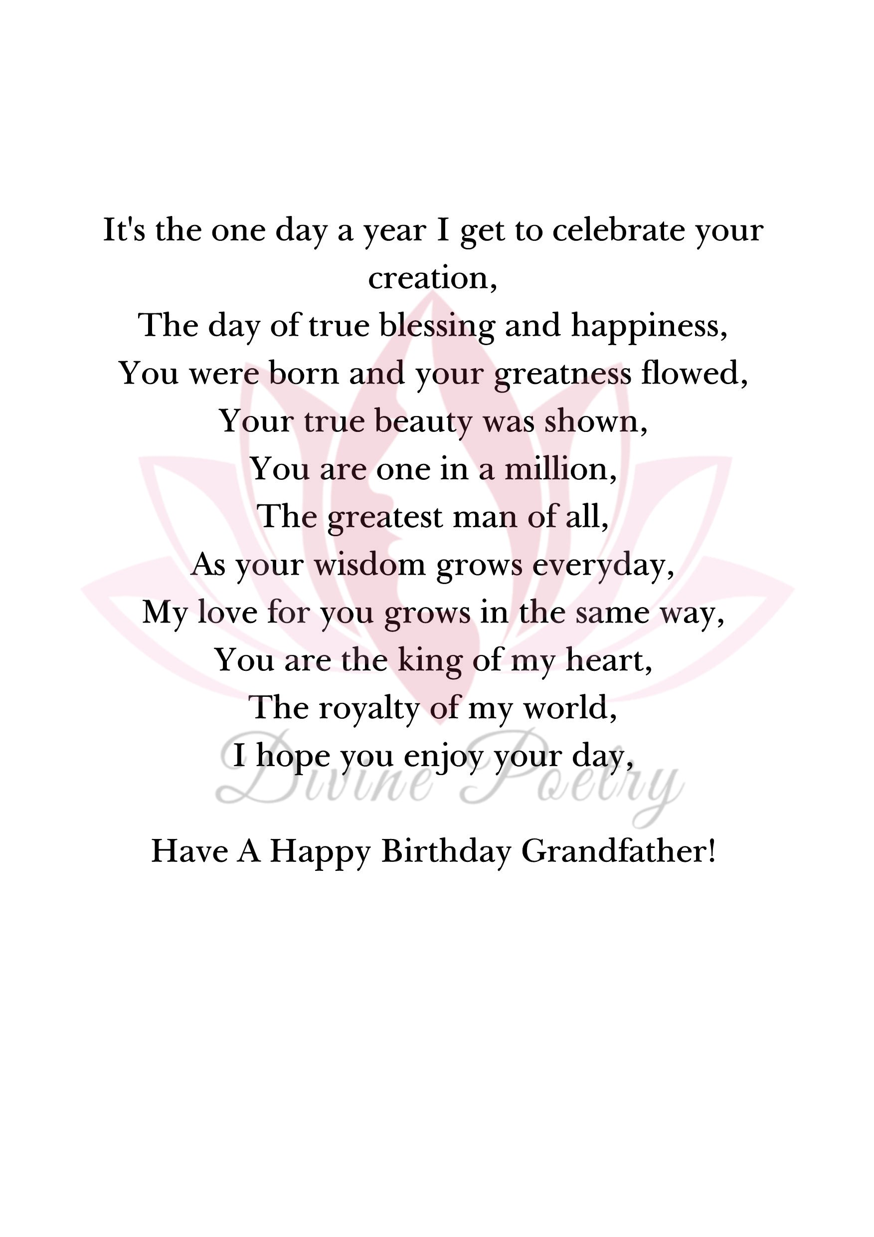 Have A Great Day Grandfather - Divine Poetry