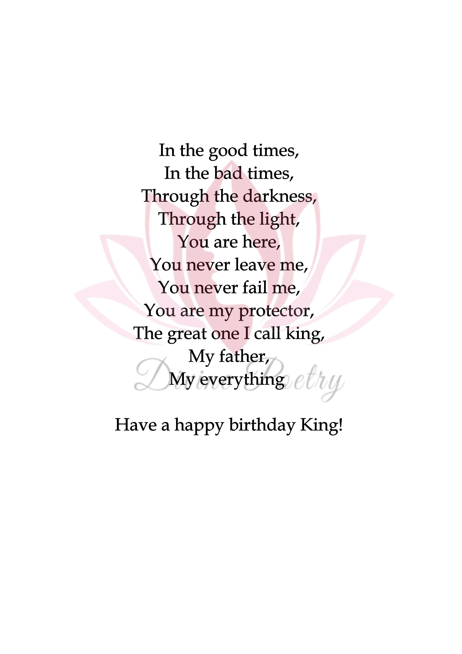 Happy Birthday Stepdad - Divine Poetry