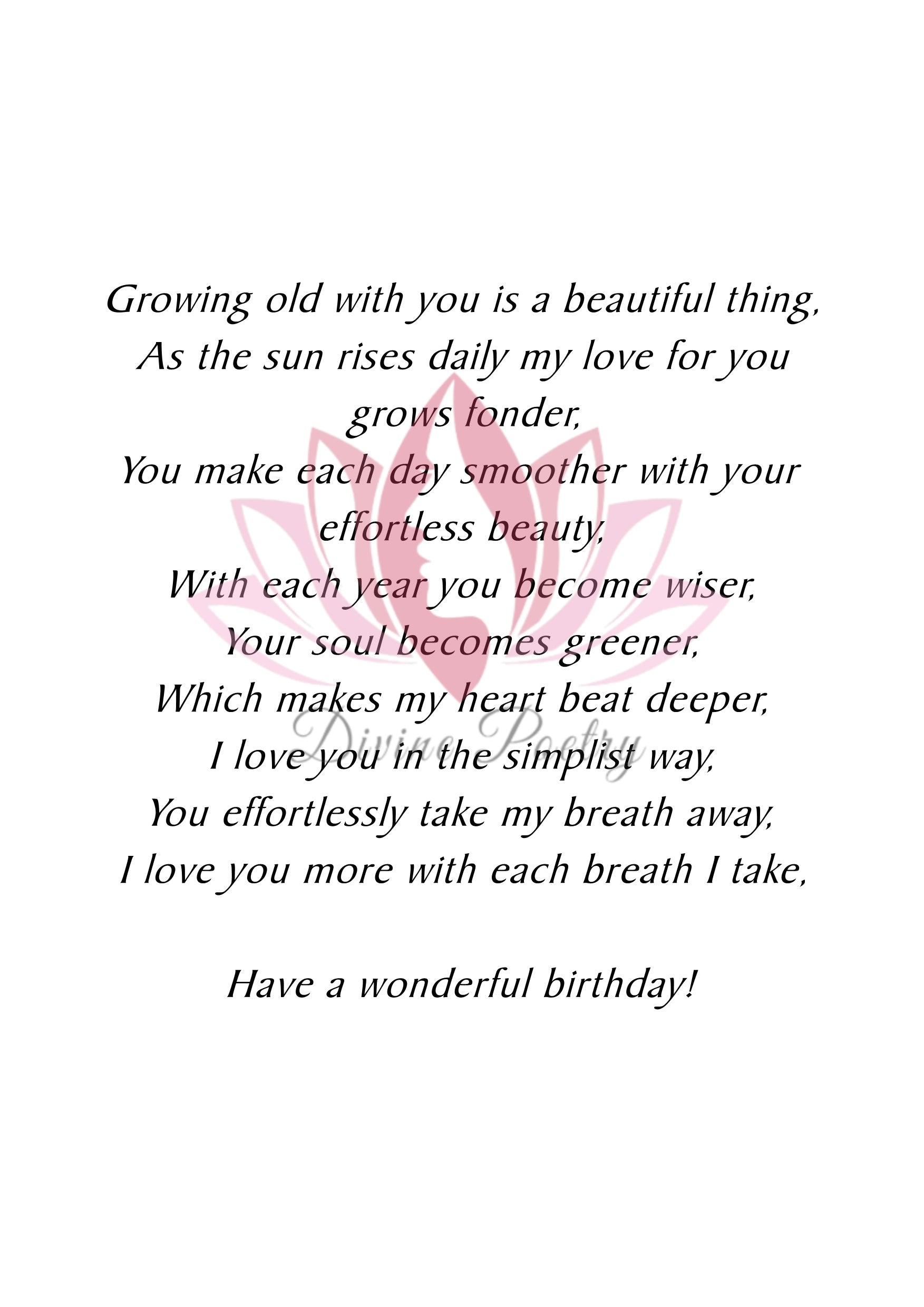 Happy Birthday To The One I Love Most - Divine Poetry