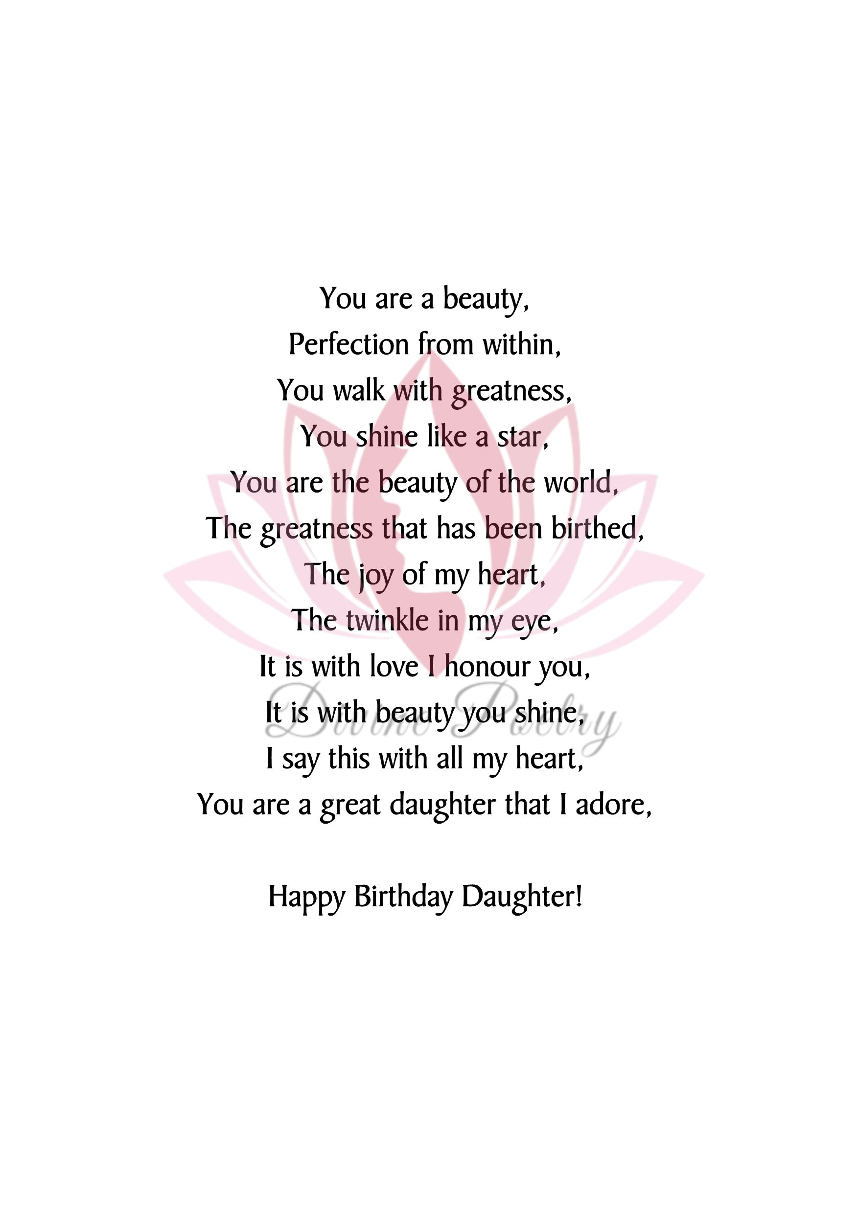 Happy Birthday Stepdaughter - Divine Poetry