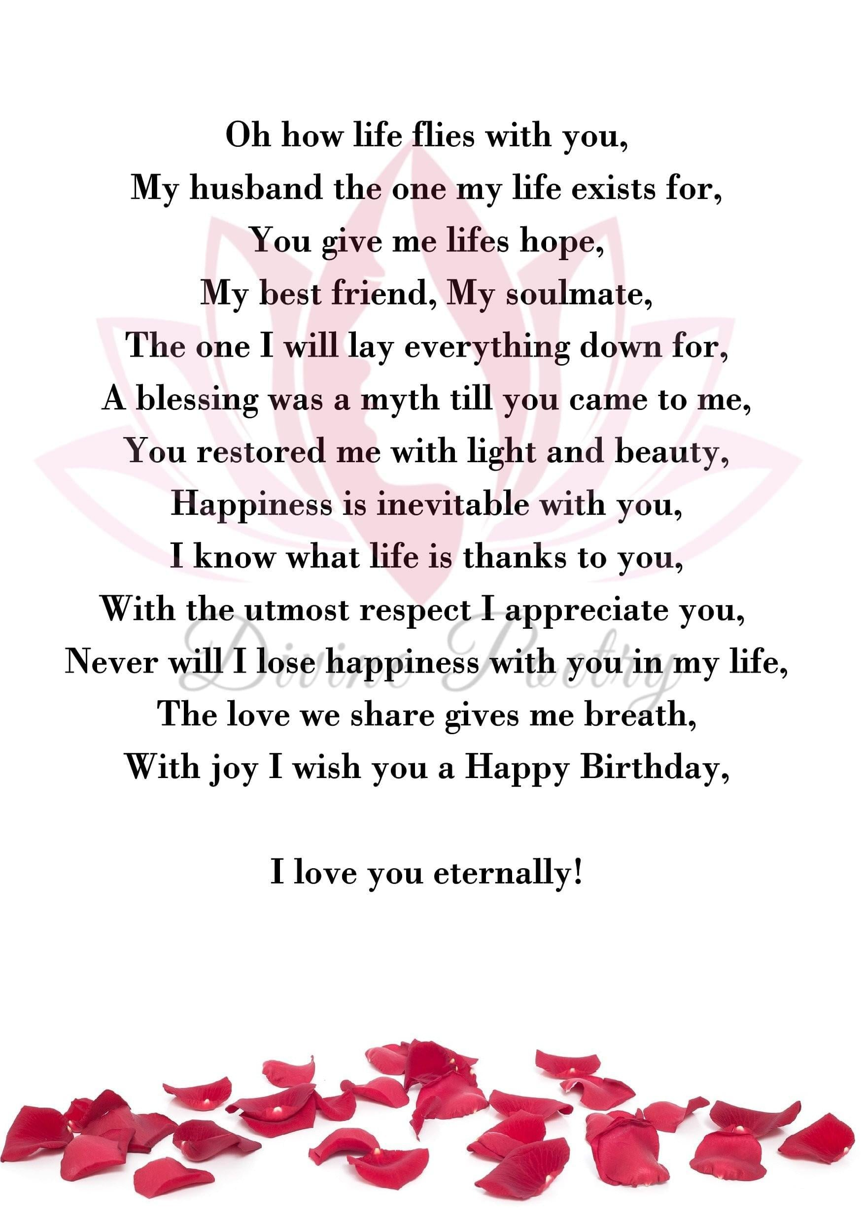 To My Amazing Husband - Divine Poetry