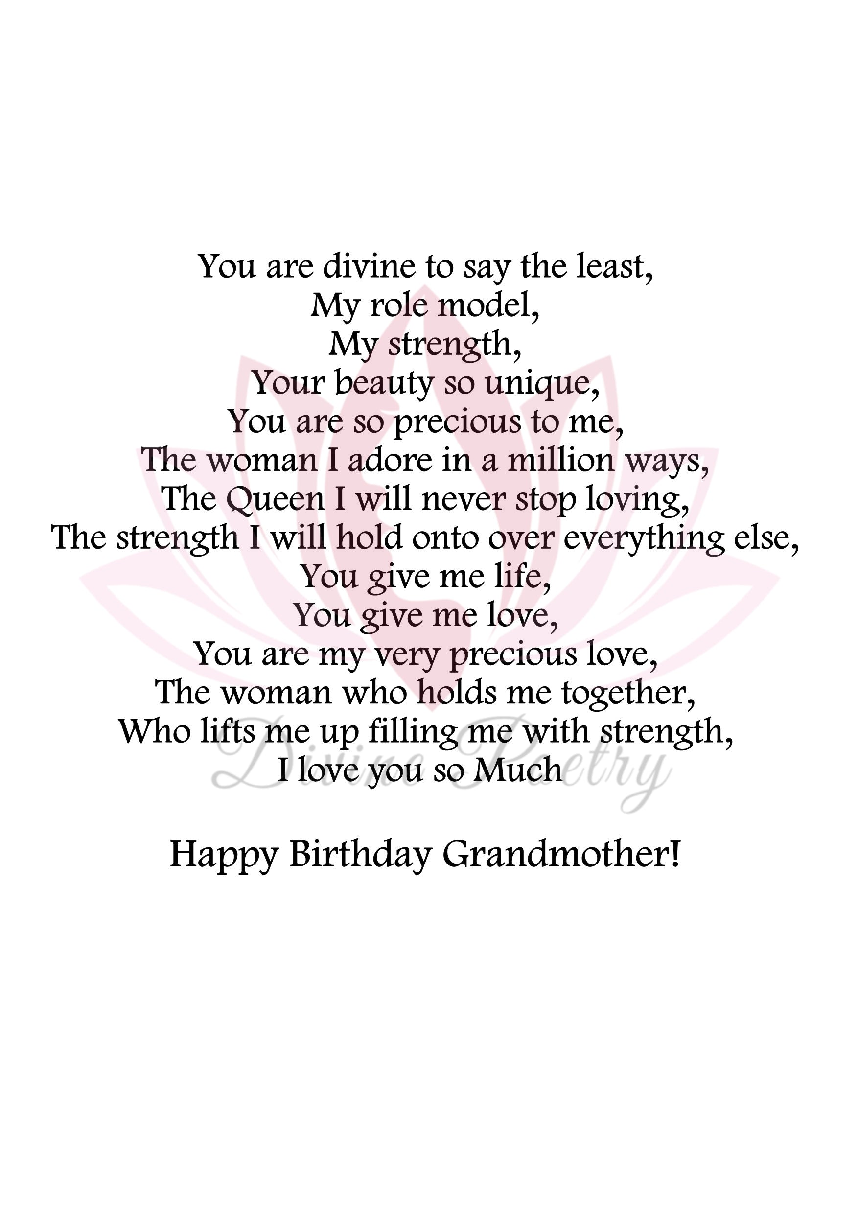To My Beautiful Grandmother - Divine Poetry