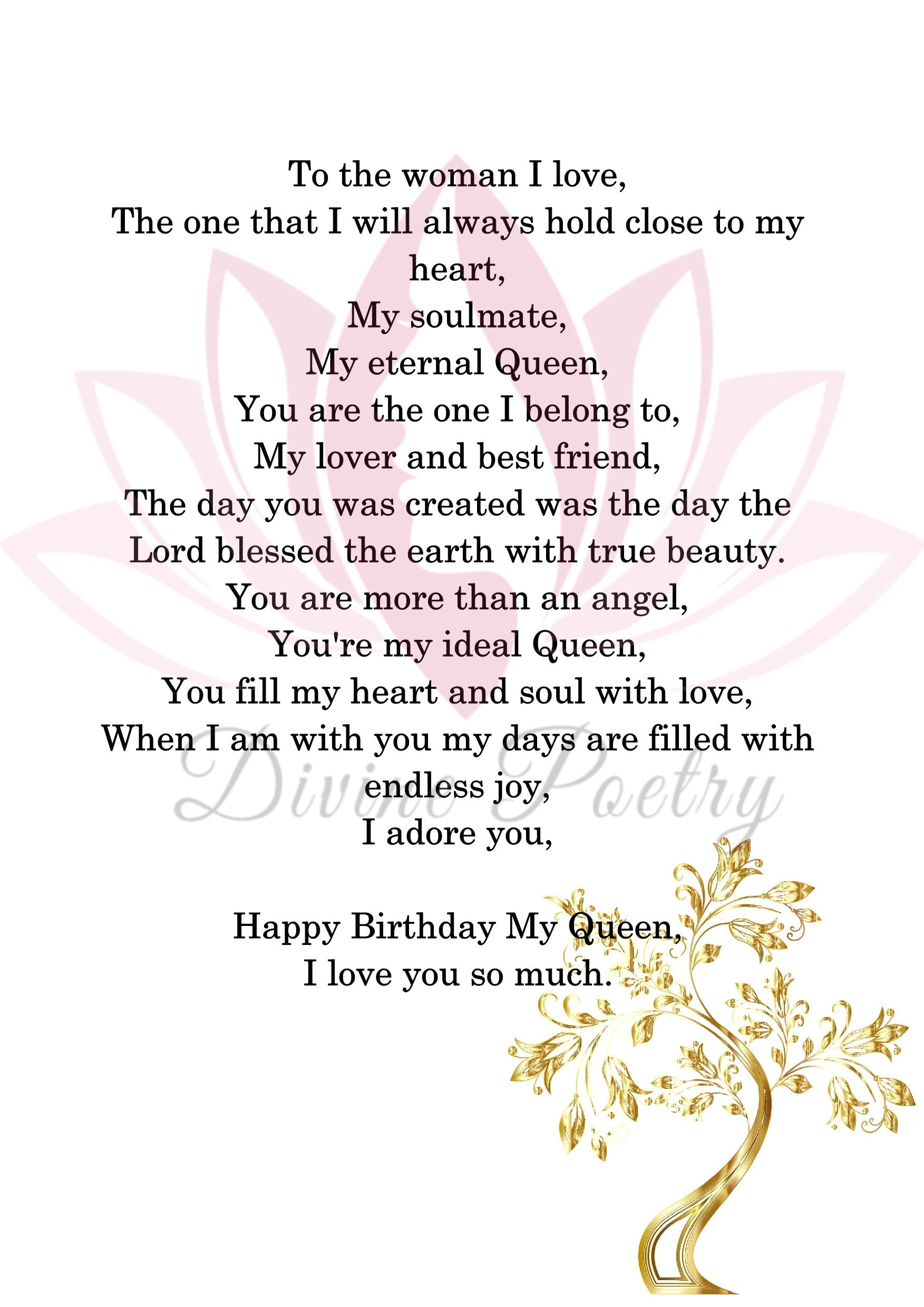 To My Wonderful Woman - Divine Poetry