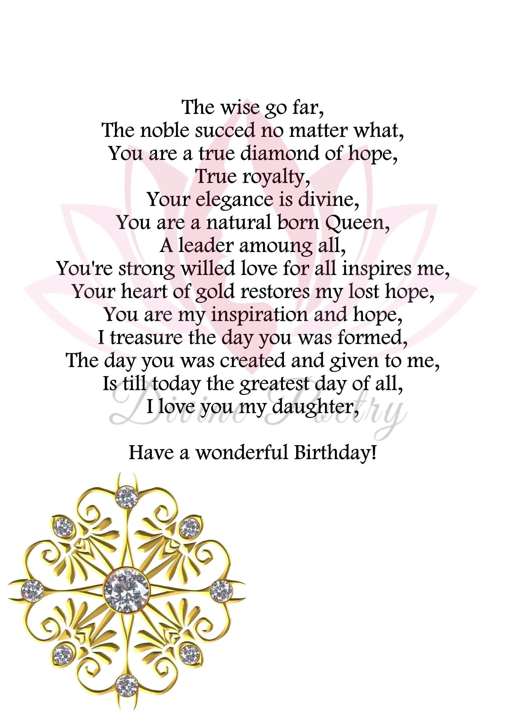 Happy Birthday Daughter - Divine Poetry