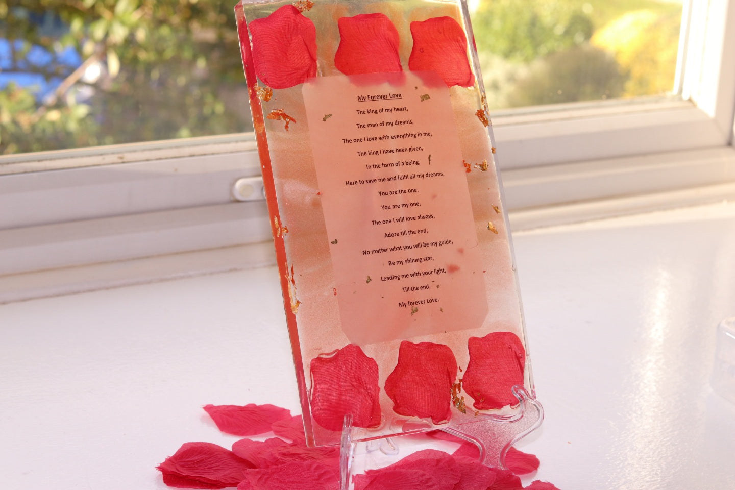 Rose & Gold Poetry Plaque - Divine Poetry