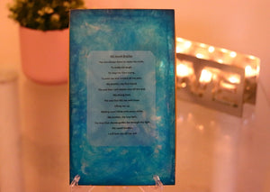 Blue Bombshell Plaque - Divine Poetry