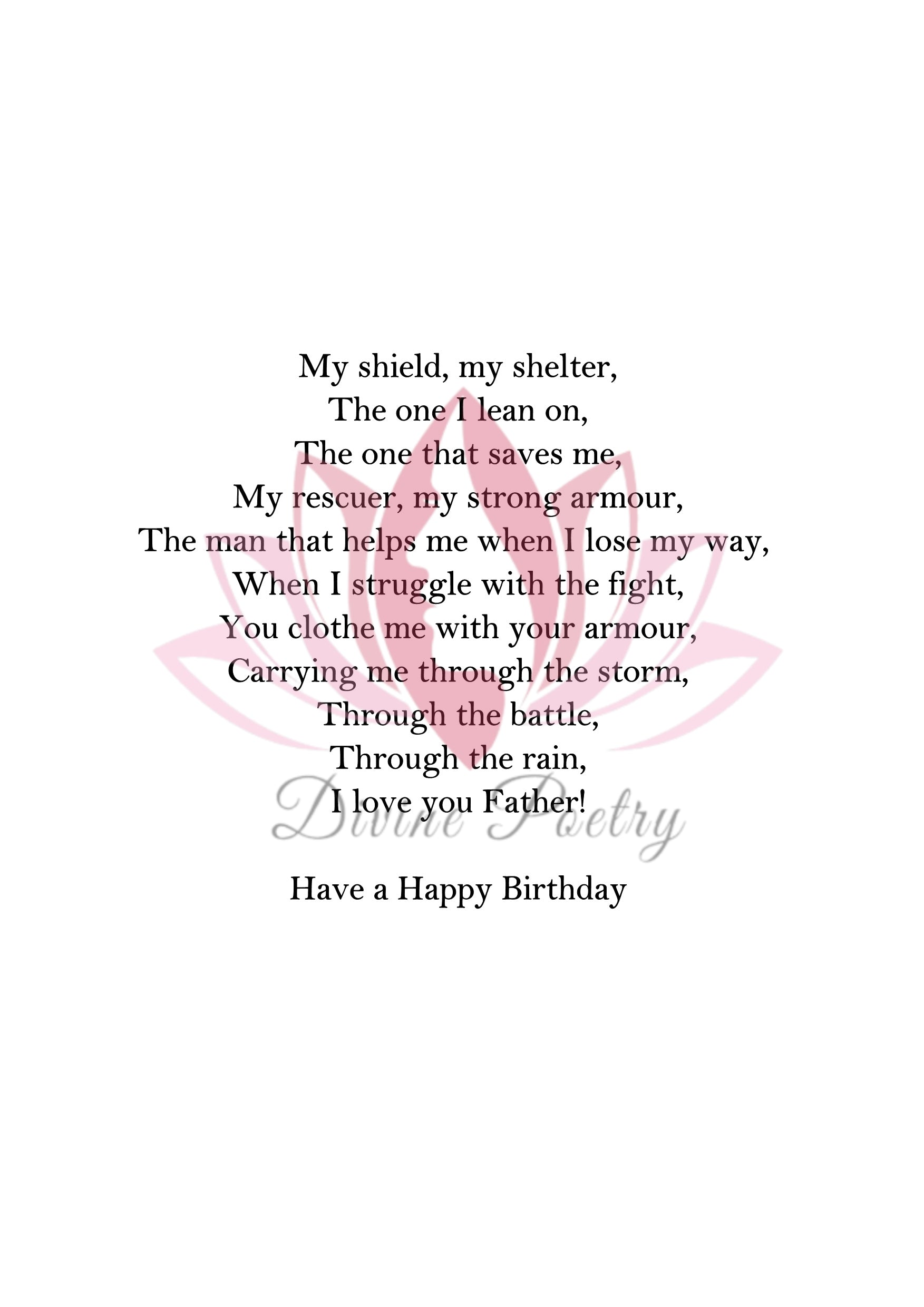 Happy Birthday Stepfather - Divine Poetry