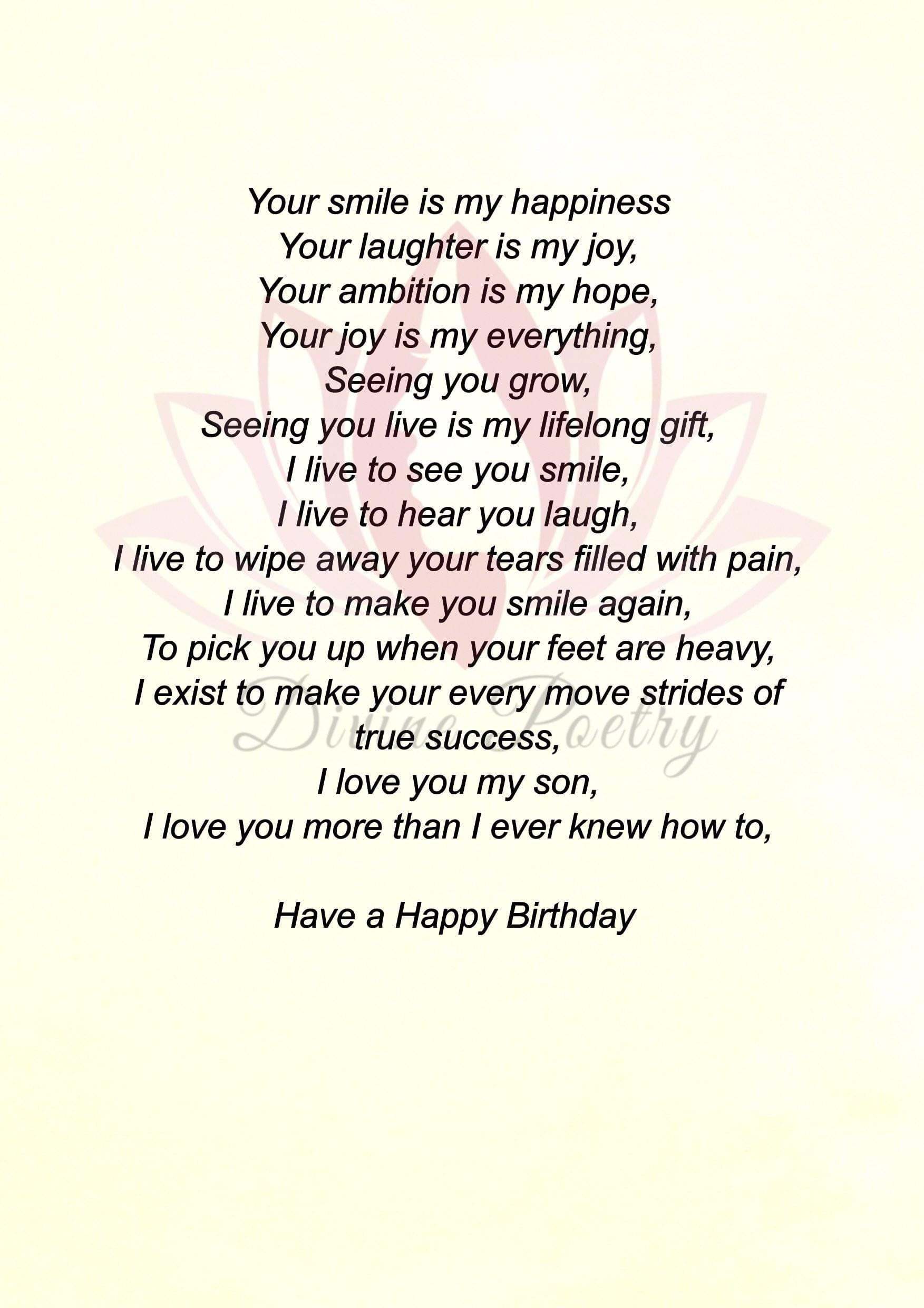 To My Great Son - Divine Poetry