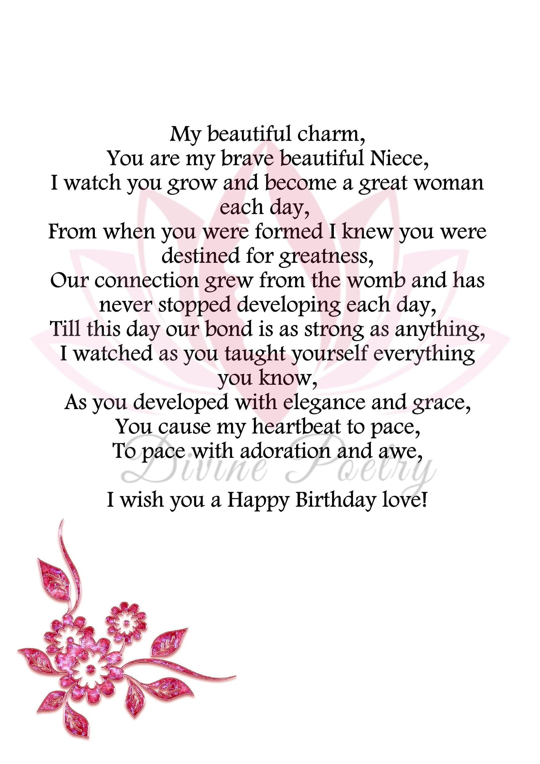 To My Beautiful Niece - Divine Poetry