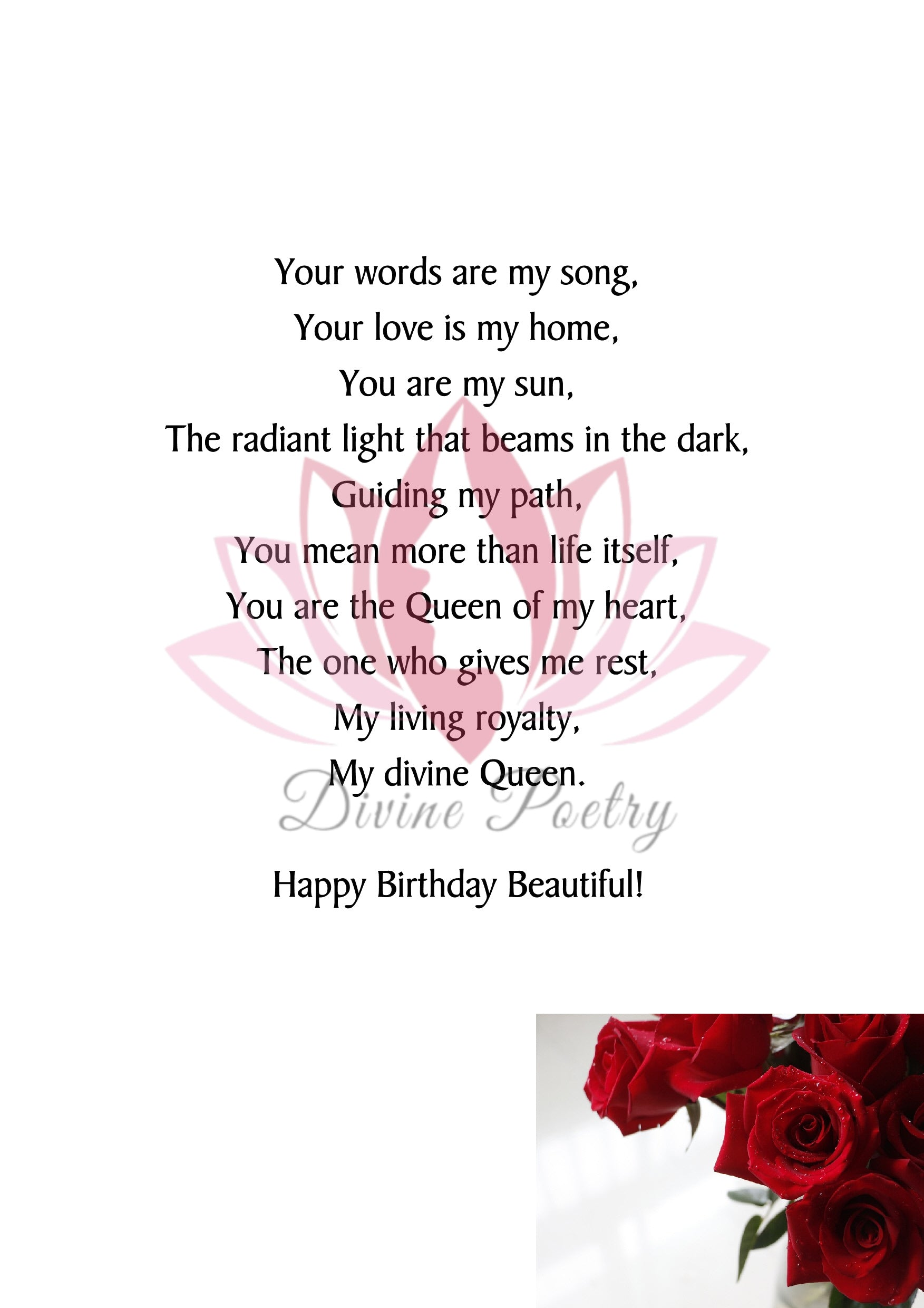 To My Beautiful Wife - Divine Poetry