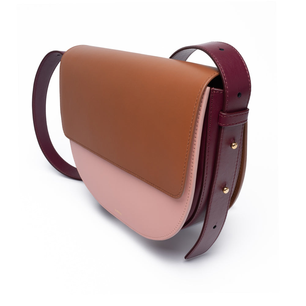 TAN | ROSE | BURGUNDY CROSSBODY